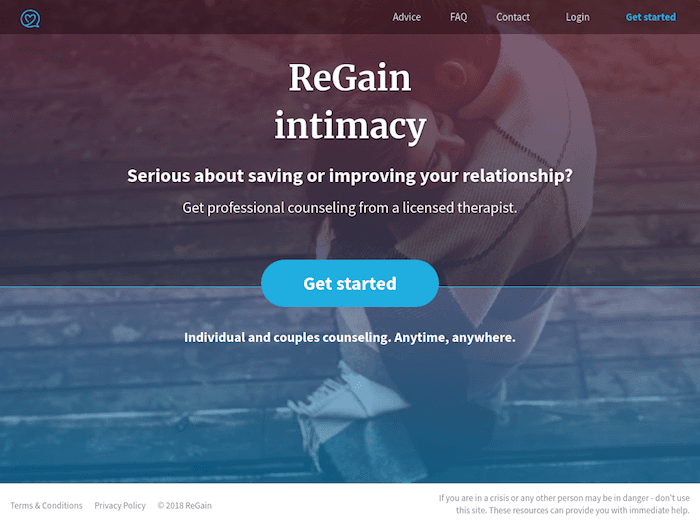 regain online relationship counseling