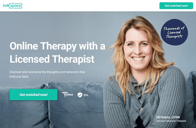 send unlimited text message with Talkspace therapy service